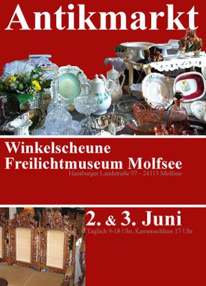Großer Antikmarkt im Freilichtmuseum Kiel-Molfsee