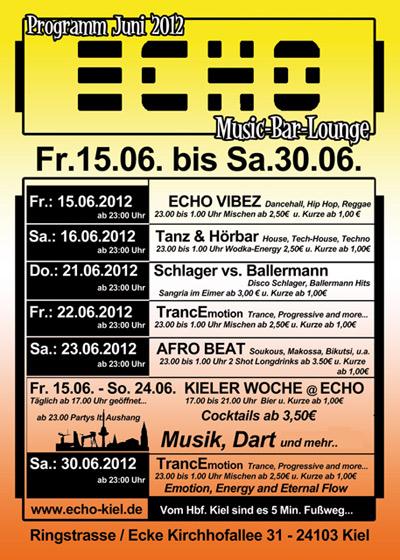 ECHO Musik-Bar-Lounge Kiel – rundum Party zur Kieler Woche 2012