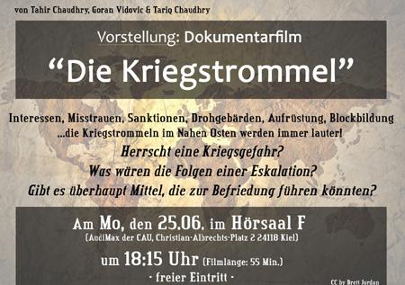 Kiel – Premiere des Dokumentarfilms: Die Kriegstrommel