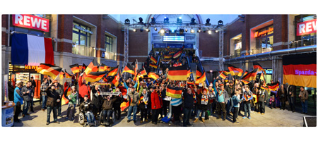 Handball-WM in Kiel: Public Viewing-Party im Handballbahnhof Kiel