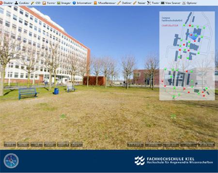 Immer ein blauer Himmel – Auf dem virtuellen Campusrundgang der FH Kiel