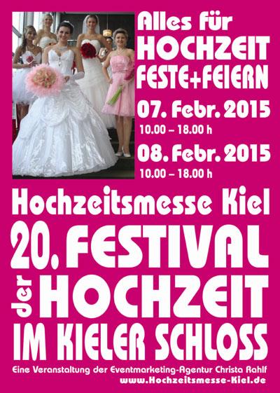 Hochzeitsmesse Kiel – 20. FESTIVAL der HOCHZEIT 2015 im Kieler Schloss