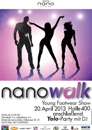 Nano Walk. Erste Footwear Modenschau in der halle400 Kiel