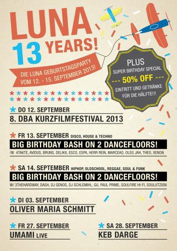 Das Kieler LUNA feiert den 13jährigen Geburtstag