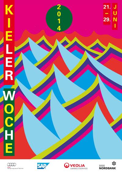 Es ist da! Das Kieler Woche Plakat 2014 – ganz schön bunt!
