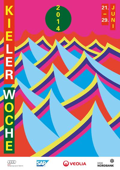Das neue Faltblatt zur Kieler Woche 2014 bringt Vorfreude auf das große Fest
