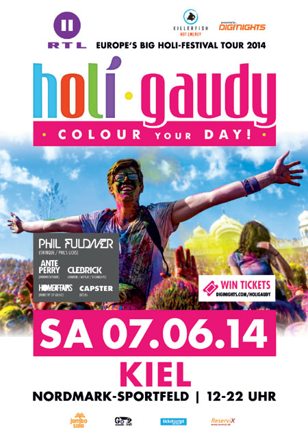Auf zur HOLI GAUDY Festival-Tour auf dem Nordmark-Sportfeld in KIEL
