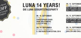 Spannende Programmtage zum Kieler LUNA Geburtstag
