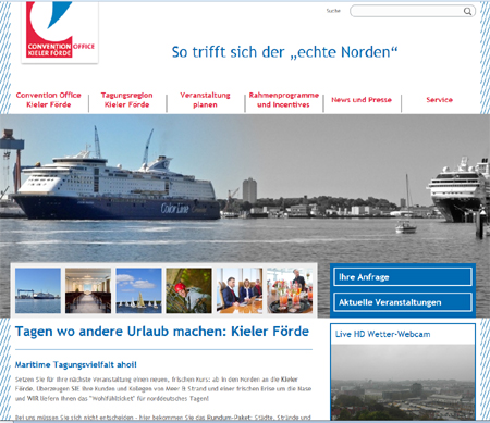 Neuer Internetauftritt für das Convention Office Kieler Förde