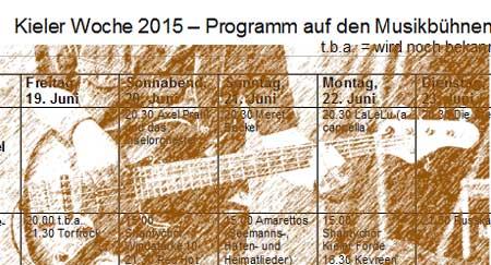 Kieler Woche – das komplette Musikprogramm aller Bühnen