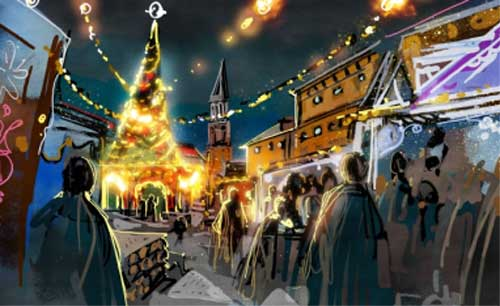 Das Kieler Weihnachtsdorf – ein neuer Weihnachtsmarkt
